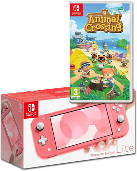 Nintendo Switch Lite - Animal Crossing Set -Coral-