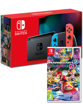 Nintendo Switch (2019) - Mario Kart 8 Set -Red/Blue-