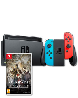 Nintendo Switch - Octopath Traveler Set -Red/Blue-