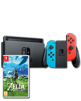 Nintendo Switch - Zelda Set -Red/Blue-
