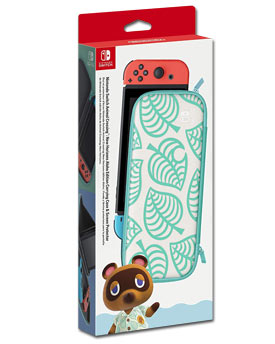 Carrying Case & Screen Protector - Animal Crossing: New Horizons Aloha Edition (Nintendo)