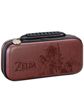 Switch Lite Deluxe Travel Case Zelda -Brown- (Bigben)