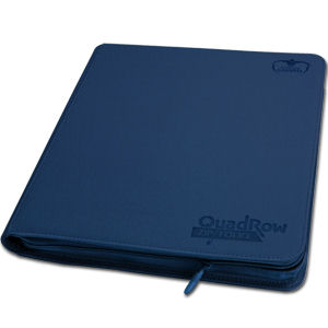 12-Pocket QuadRow ZipFolio -Blue-