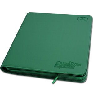 12-Pocket QuadRow ZipFolio -Green-
