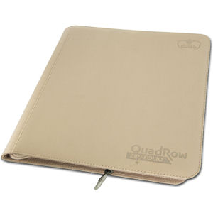 12-Pocket QuadRow ZipFolio -Sand-
