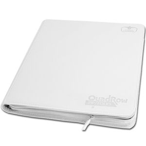 12-Pocket QuadRow ZipFolio -White- (Nachproduktion)