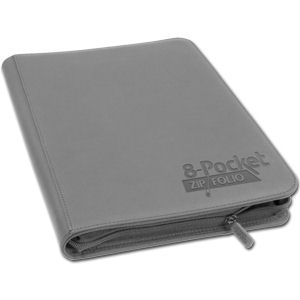 8-Pocket ZipFolio -Grey-