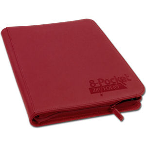 8-Pocket ZipFolio -Red-