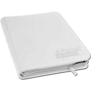 8-Pocket ZipFolio -White-