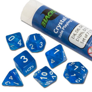 Dice Set Crystal - Blue (Set of 7 16mm Dice)