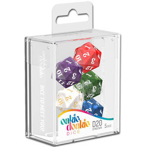 Dice D20 - Spindown Set Marble Selection (Set of 5 Dice)
