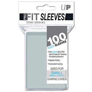 Card Sleeves Small PRO-FIT -Clear-