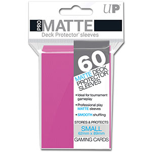 Card Sleeves Small Pro-Matte -Bright Pink-