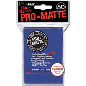 Card Sleeves Standard Pro-Matte -Blue-