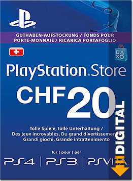 Playstation Store Guthaben CHF 20.-- (Sony)