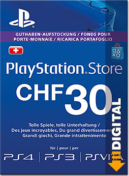 Playstation Store Guthaben CHF 30.-- (Sony)