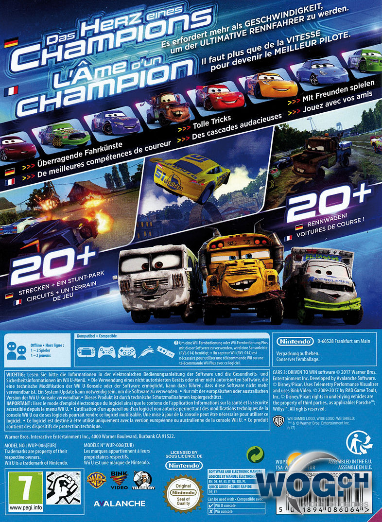 cars 3 driven to win wii u world of games. Black Bedroom Furniture Sets. Home Design Ideas