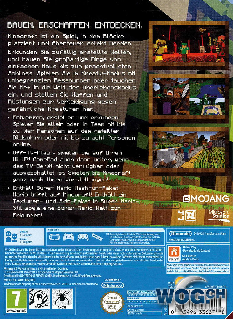Minecraft Wii U Edition Wii U World Of Games - Minecraft online spielen auf pc