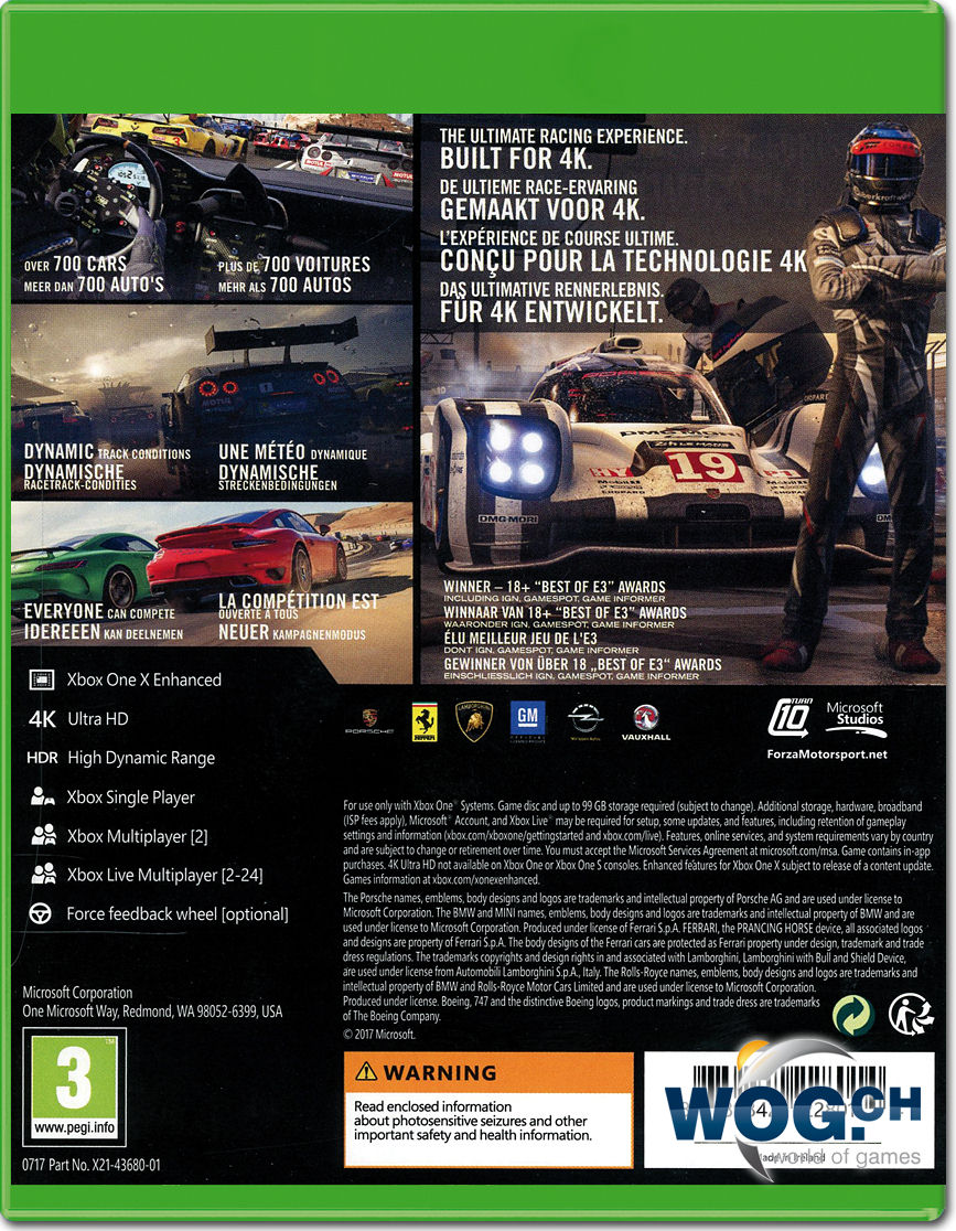 forza motorsport 7 xbox one world of games. Black Bedroom Furniture Sets. Home Design Ideas