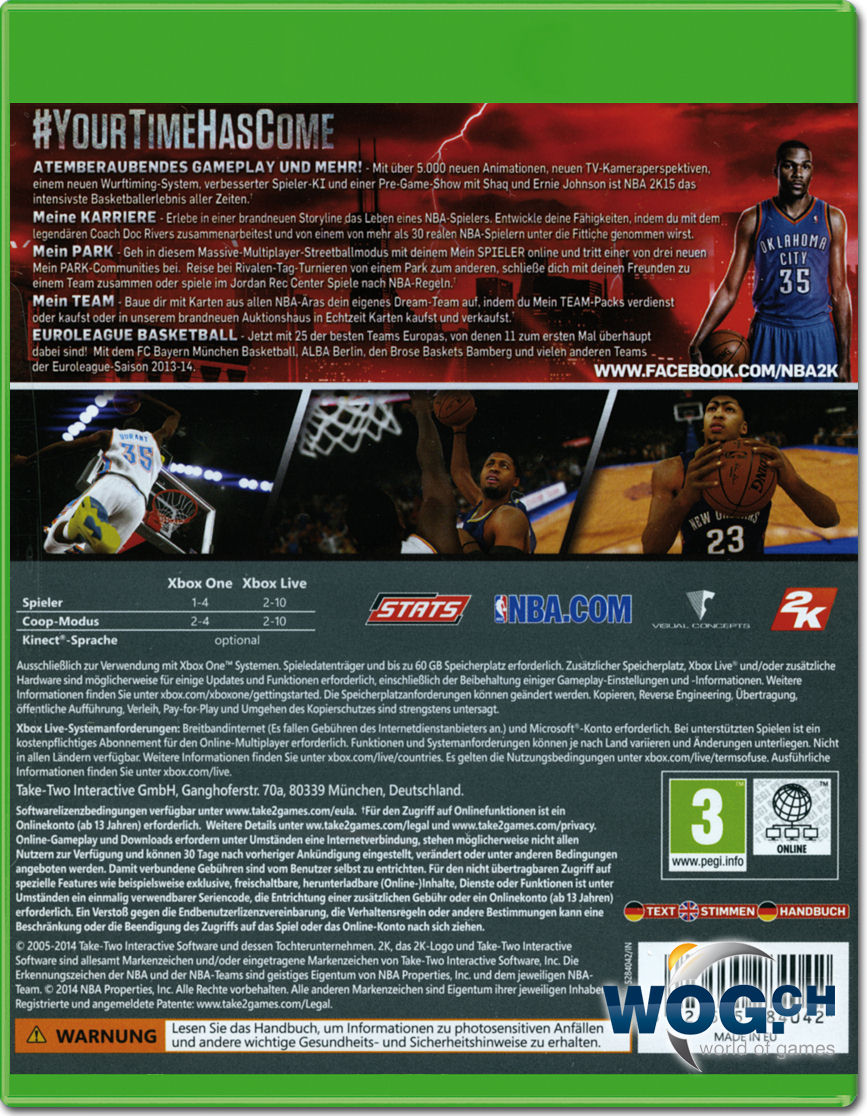 NBA 2K15 [Xbox One] • World of Games
