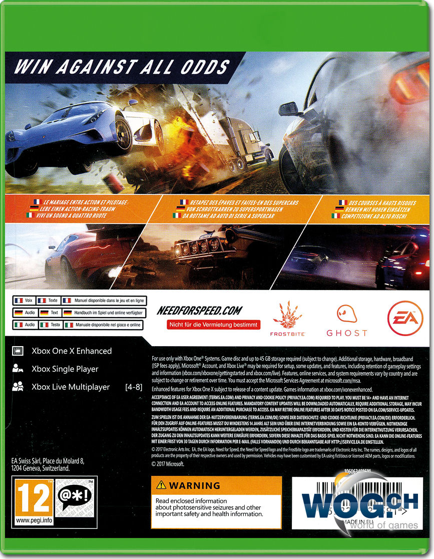need for speed payback xbox one world of games. Black Bedroom Furniture Sets. Home Design Ideas