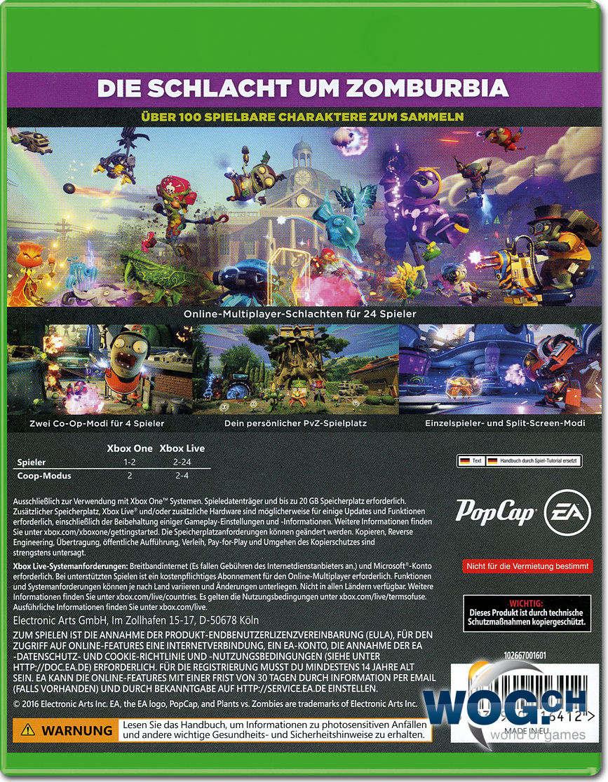 Plants Vs Zombies Garden Warfare 2 Xbox One World Of Games