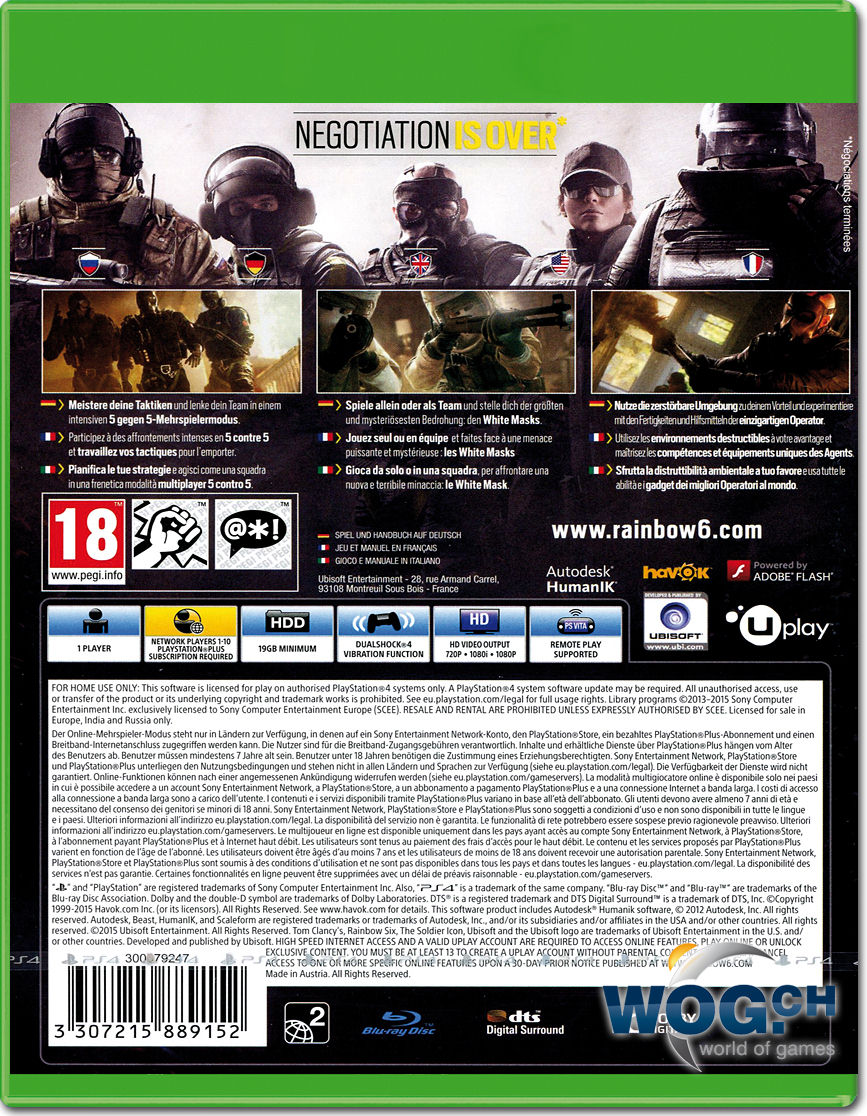 rainbow six siege xbox one world of games. Black Bedroom Furniture Sets. Home Design Ideas