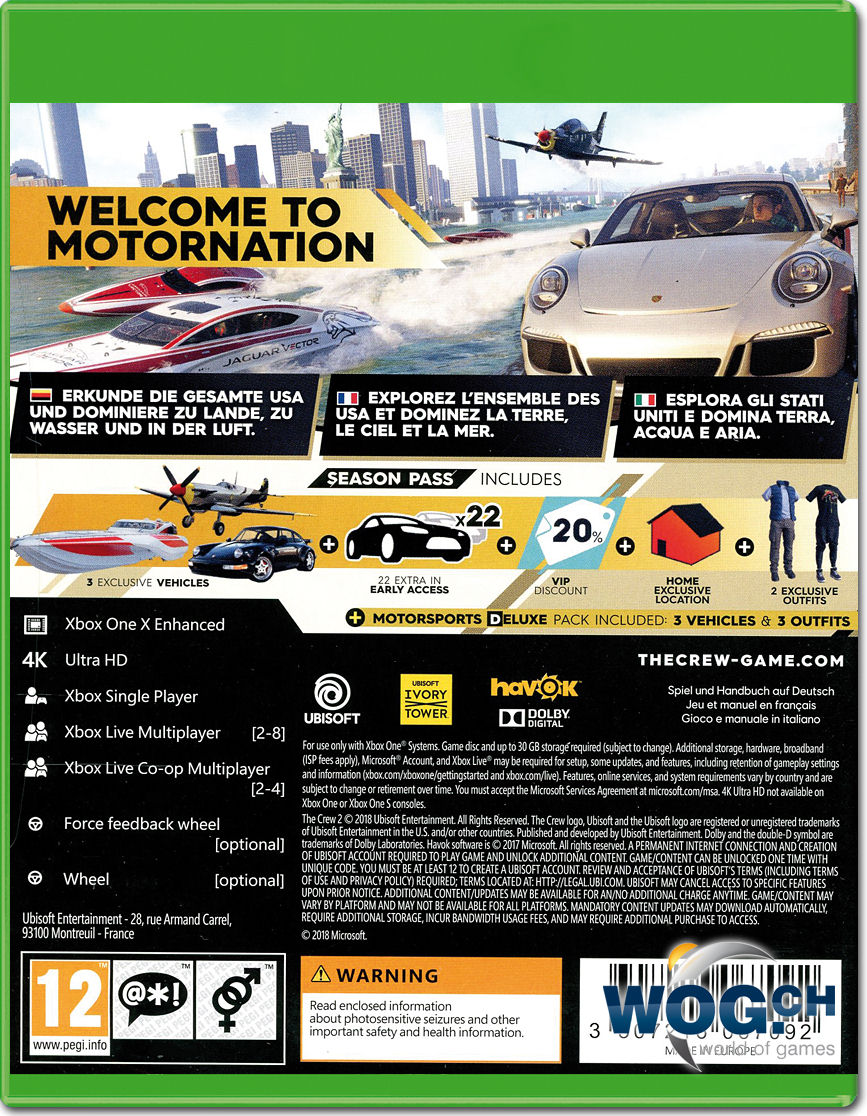 the crew 2 gold edition xbox one world of games. Black Bedroom Furniture Sets. Home Design Ideas