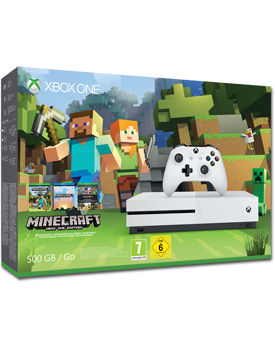 Xbox One S Konsole 500 GB - Minecraft Set (Microsoft)
