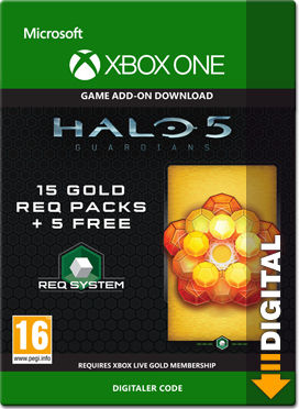Halo 5: Guardians - 15 Gold REQ Packs