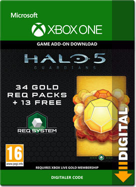 Halo 5: Guardians - 34 Gold REQ Packs
