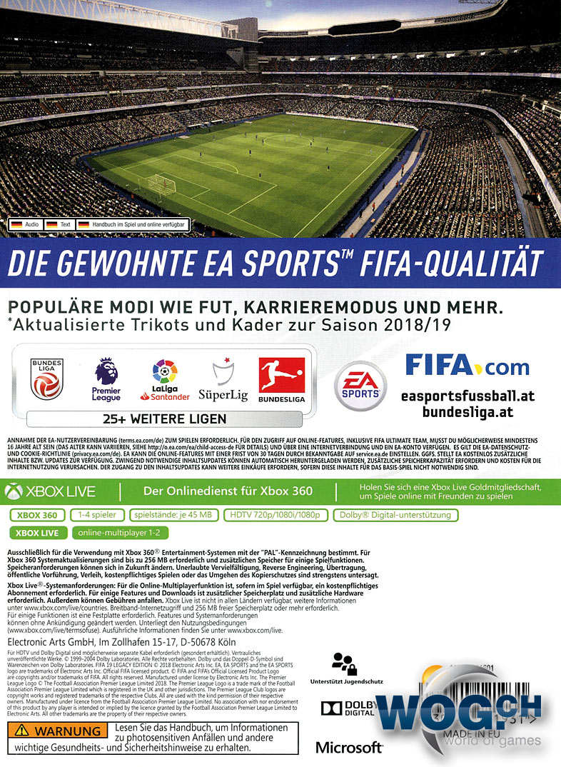 2afa172a3e1 FIFA 19 - Legacy Edition [Xbox 360] • World of Games