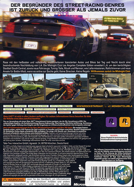 Midnight Club Los Angeles - Complete Edition - XBOX