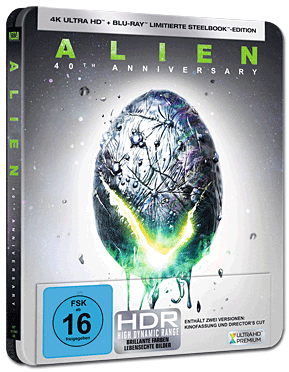 Alien 1 - 40th Anniversary Steelbook Blu-ray UHD (2 Discs)