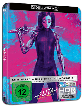 Alita: Battle Angel - Steelbook Edition Blu-ray UHD (4 Discs)