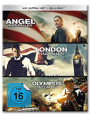 Angel/London/Olympus Has Fallen - Triple Film Collection Blu-ray UHD (6 Discs)