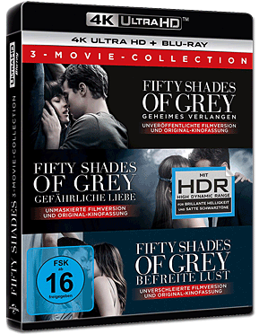 Fifty Shades of Grey - 3 Movie Collection Blu-ray UHD (6 Discs)