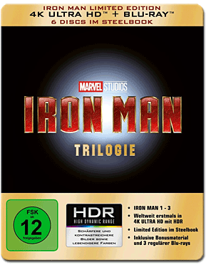 Iron Man - Limited Edition Trilogie Blu-ray UHD (6 Discs)
