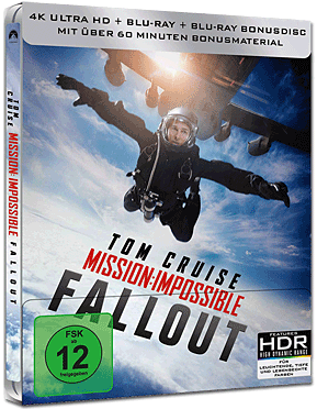 Mission: Impossible 6 - Fallout - Steelbook Edition Blu-ray UHD (2 Discs)