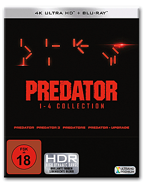 Predator - 1-4 Collection Blu-ray UHD (8 Discs)