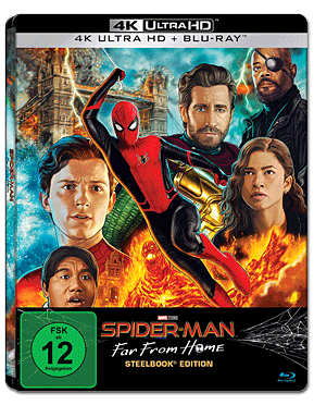 Spider-Man: Far from Home - Steelbook Edition Blu-ray UHD (2 Discs)