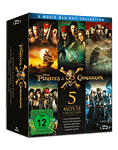 Pirates of the Caribbean - 5-Movie Collection Blu-ray (5 Discs)