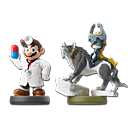 amiibo Set Super Smash Bros: No. 42 Dr. Mario & amiibo Legend of Zelda: Twilight Princess - Wolf-Link