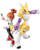 Digimon Tamers - Renamon & Rika