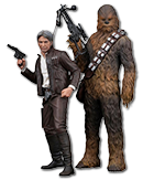 Star Wars Episode 7: The Force Awakens - Han Solo & Chewbacca