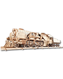 UGEARS Models: V-Express Steam Train with Tender (70058)