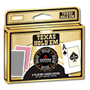 Poker Cards Texas Hold'em Double Pack PVC - Jumbo Index Face Black/Red (inkl. Dealer Button)