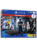 Sony Playstation 4 Slim 1 TB - Playstation Hits Set -Black- (Sony)