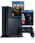 Sony Playstation 4 PAL - The Last of Us & The Order: 1886 Set -Black- (Sony)