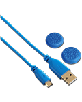 USB Charging Cable Soft -Blue- (Hama) (Playstation 4)